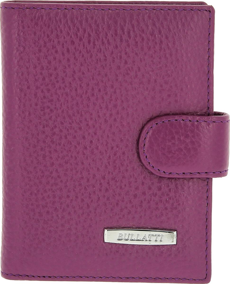 Визитница женская Bullatti, цвет: фиолетовый. 2151-PURPLE обложка для паспорта женская bullatti цвет фиолетовый 12182 purple