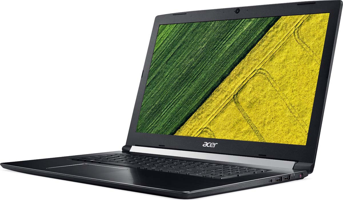 Ноутбук Acer Aspire 7 A717-71G-76YX, Black ноутбук msi gl62m 7rdx 2099ru core i7 7700hq 8gb 1tb nv gtx 1050 2gb 15 6 fullhd win10 black