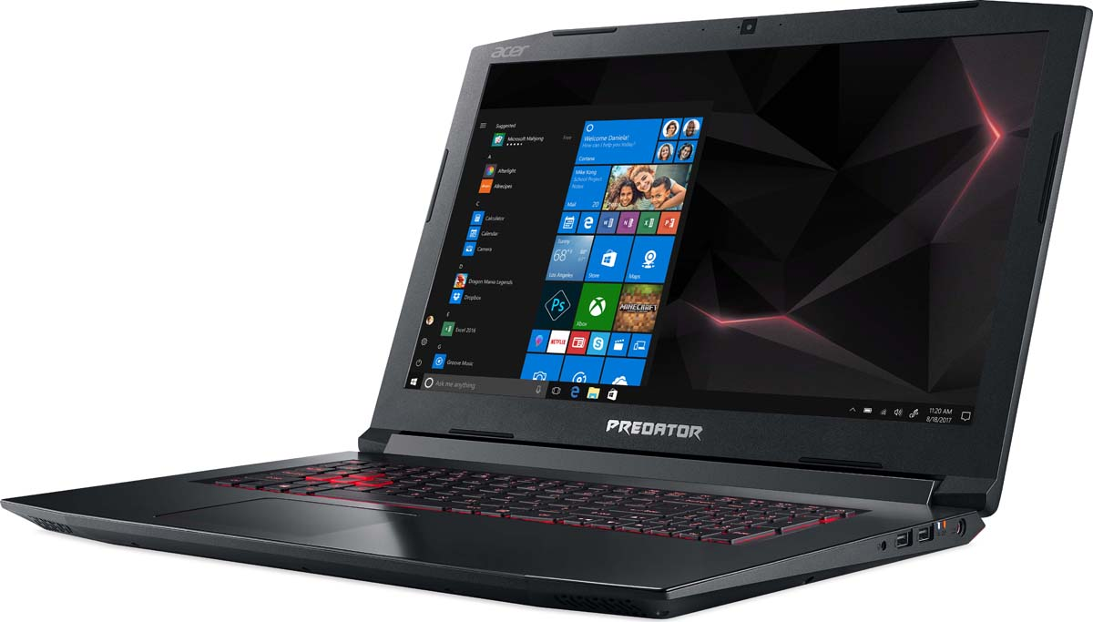 Ноутбук Acer Helios 300 PH317-52-779K, Black no spots black
