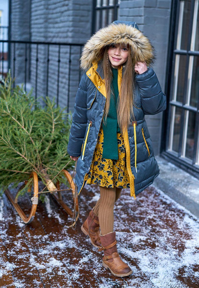 Куртка для девочки OLDOS Аттолета, цвет:  зеленый.  1O8JK15.  Размер 164 OLDOS