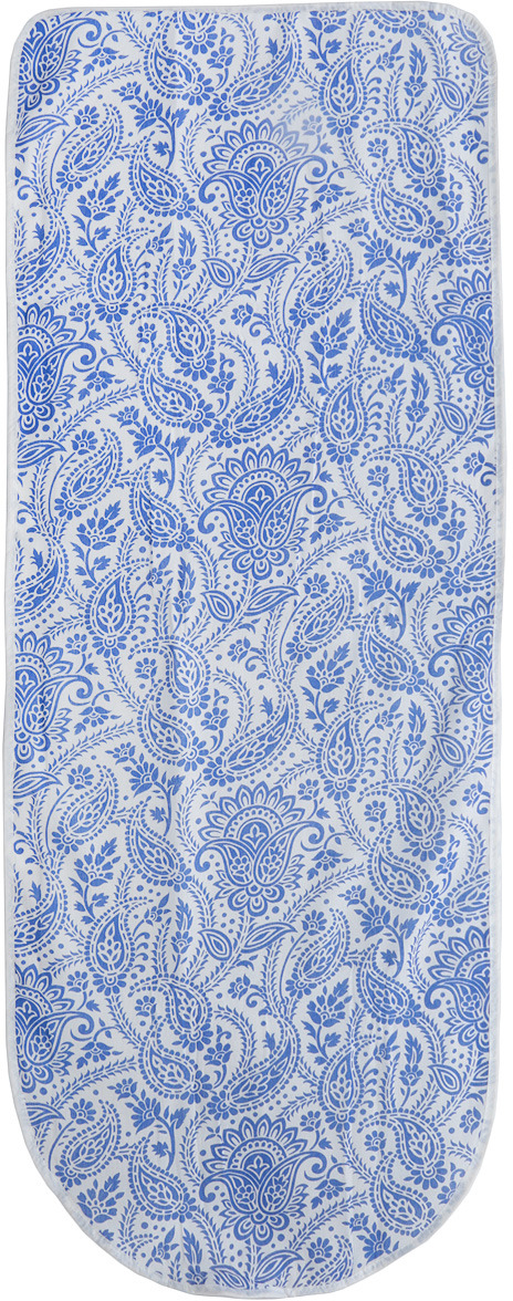 """Фото Чехол для гладильной доски """"Eva, цвет: белый, синий, 125 х 47 см. Е13"""