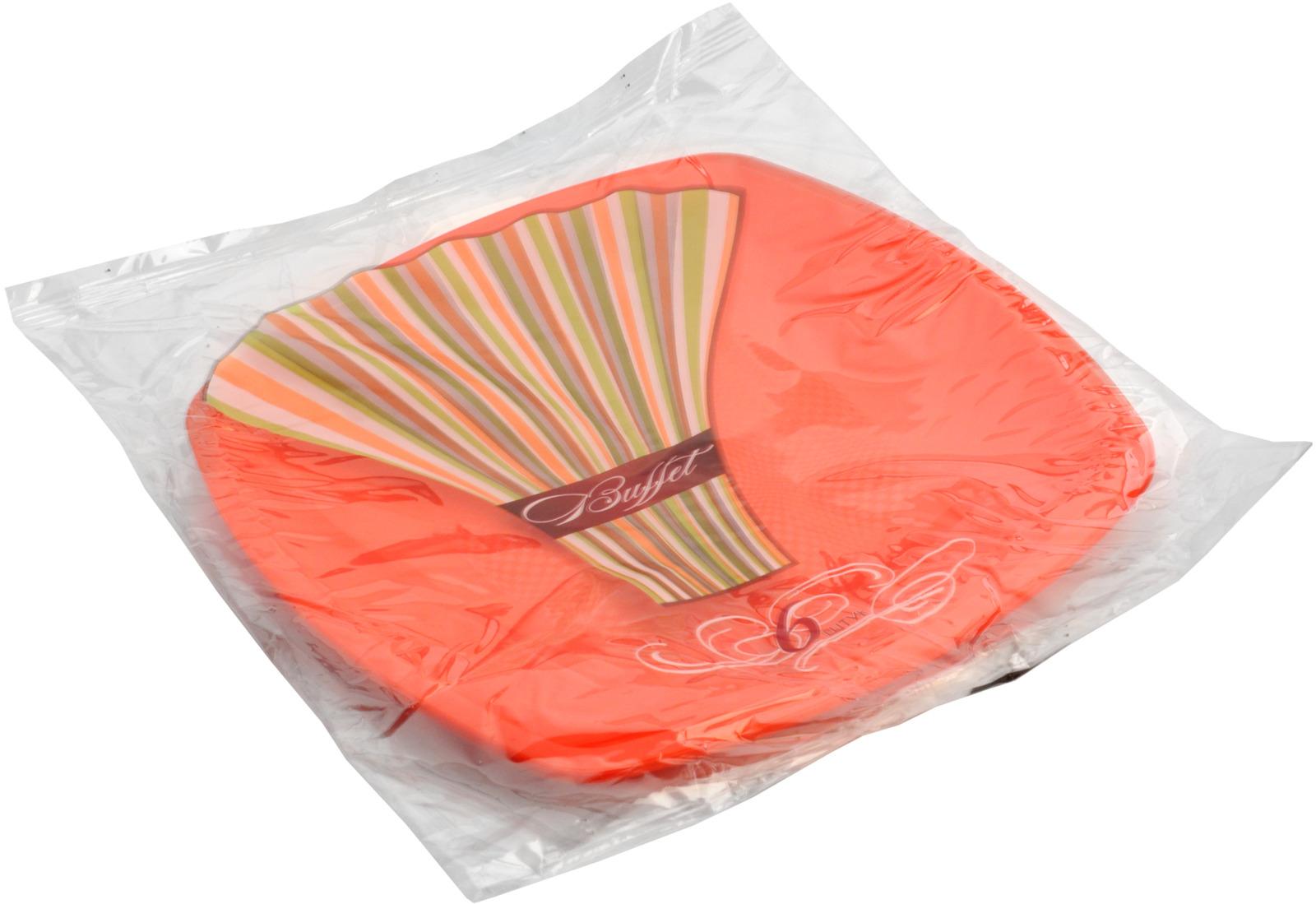 Тарелки из пластических масс (полипропилен) для холодных и горячих (до +70С) пищевых продуктов: тарелки 230*230мм цветные, ГОСТ Р 50962-96, ТО 400-33-38-130-09.