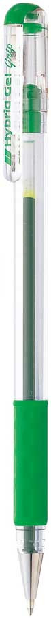 Гелевая ручка Pentel Hybrid Gel Grip, стержень 0.6 мм, цвет чернил: зеленый корейский канцелярские канцелярские акварель ручка гелевые ручки комплект 10шт цвет kandelia