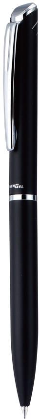 Гелевые ручки новой линии EnerGel с мягким поворотным механизмом  Металлический матовый корпус черного цвета, чернила черные. Ручки EnerGel New Line BL2007 созданы в японском стиле - минимализм и элегантность прослеживаются в каждой детали. Ручка комплектуется стержнем с черными быстросохнущими гелевыми чернилами EnerGel. Толщина линии - 0,35 мм, диаметр шарика 0,7 мм. Ручка поставляется в элегантном футляре.