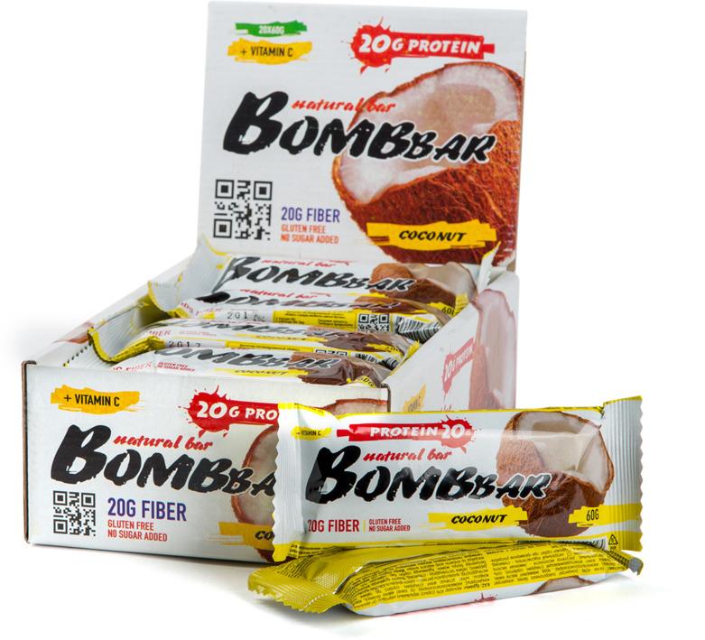 """""""Bombbar"""" - это спортивный батончик с высоким содержанием протеина и минимальным количеством сахара. Обладает восхитительным вкусом, быстро снабжает организм многокомпонентным протеином, отлично подходит для белковой диеты.Протеиновый батончик """"Bombbar"""":- поможет снизить вес,- питает мышечную массу,- придает эффект сытости,- улучшает общее состояние системы пищеварения,- способствует росту полезной микрофлоры,- способствует подержанию здорового уровня сахара в крови,- не содержит сахар,- не содержит ГМО. Как повысить эффективность тренировок с помощью спортивного питания? Статья OZON Гид"""