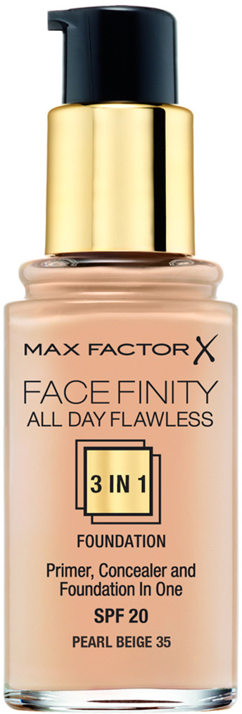 Max Factor Тональная основа 3в1 Facefinity All Day Flawless, SPF 20, тон №35 (pearl beige), 30 мл основа тональная для лица max factor facefinity all day flawless 3 in 1 30 мл тон 40 light ivory