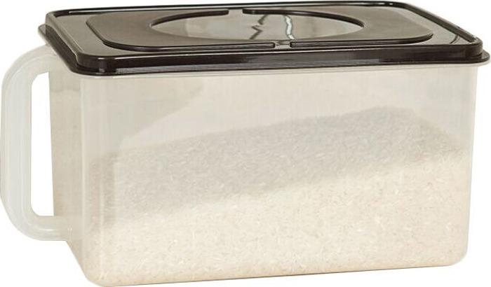 Пищевой контейнер с крышкой и удобной ручкой, имеет мерную шкалу, объем 6 литров. Идеально подойдет для хранения овощей, фруктов и других продуктов в холодильнике или кухонном шкафу.