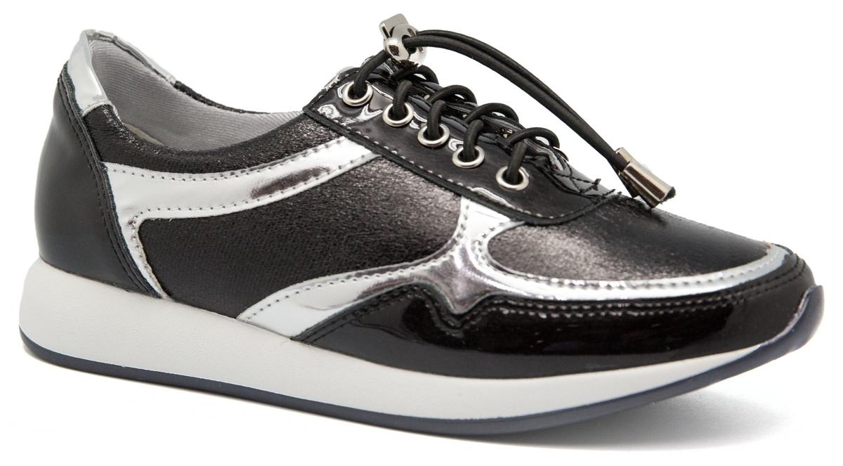 Кроссовки для девочки Счастливый ребенок, цвет: черный. 9703-23A. Размер 37