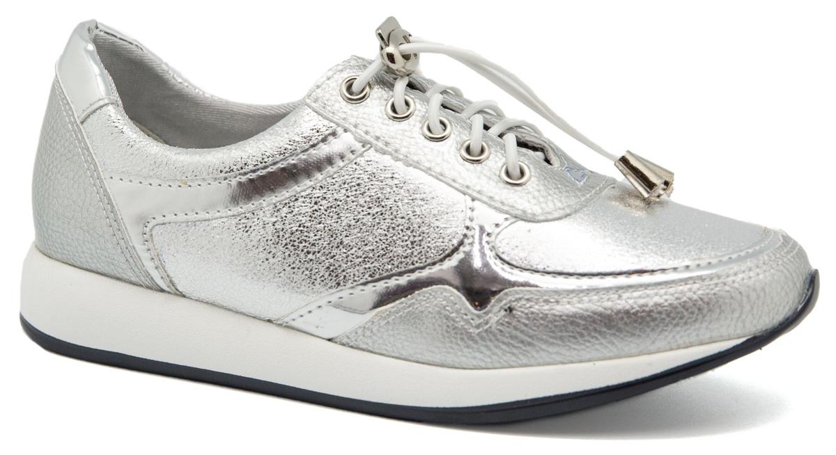 Кроссовки для девочки Счастливый ребенок, цвет: серебряный. 9703-23C. Размер 37