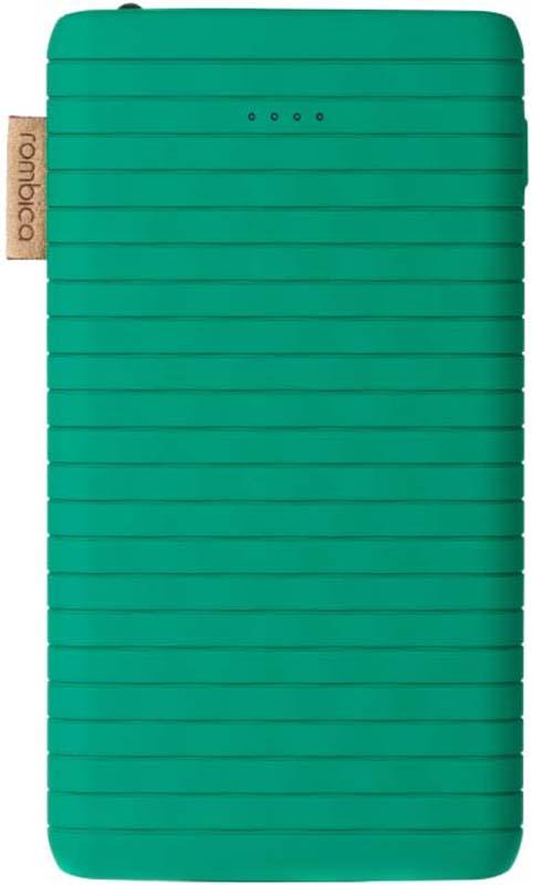 Внешний аккумулятор Rombica NEO ES70, цвет: зеленый, 7000 мАч внешний аккумулятор rombica neo az220s quick цвет серебристый 22000 мач