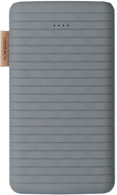 Внешний аккумулятор Rombica NEO ES100, цвет: серый, 10000 мАч внешний аккумулятор samsung eb pg930bbrgru 5100mah черный