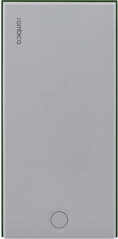 Внешний аккумулятор Rombica NEO NS100G, цвет: зеленый, 10000 мАч внешний аккумулятор rombica neo az220s quick цвет серебристый 22000 мач