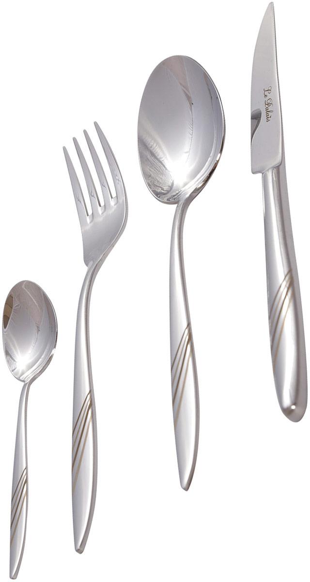 Добавьте последний штрих к вашему столу с набором столовых приборов на 6 персон. Столовые приборы отличаются своими гладкими линиями и блестящей нержавеющей сталью. Силуэты ножей, вилок и ложек сочетаются как с традиционными, так и с более модными и смелыми типами сервировки. Каждый комплект включает 6 столовых ножей, 6 столовых вилок, 6 столовых ложек и 6 чайных ложек. Идеально подходит для повседневного или особого случая. Упакованы в подарочную коробку. Можно мыть в посудомоечной машине.