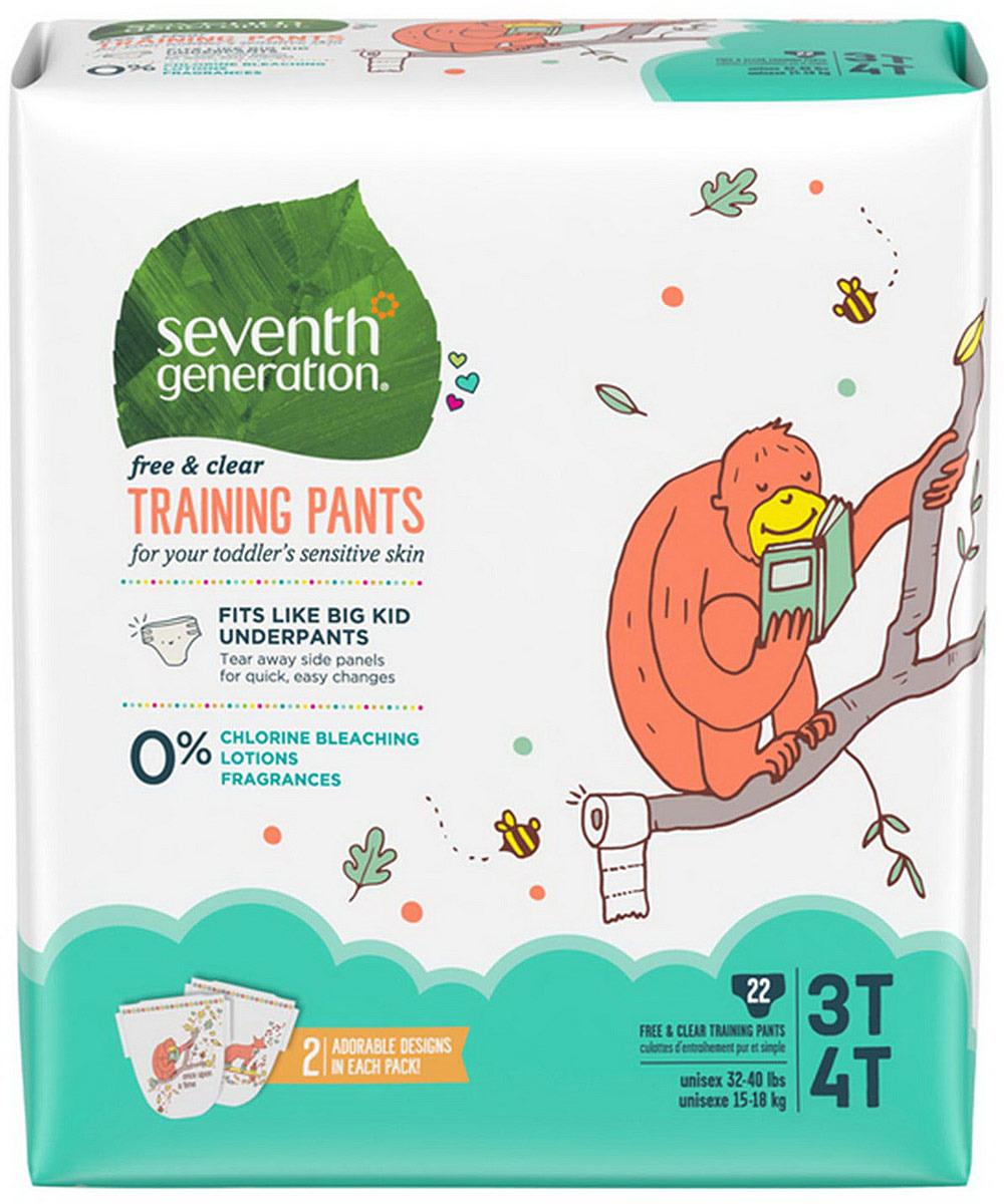 Подгузники-трусики детские Seventh Generation Без Запаха, 15-18 кг, 22 шт гель для стирки seventh generation 2 х кратной концентрации без запаха 1 47 л