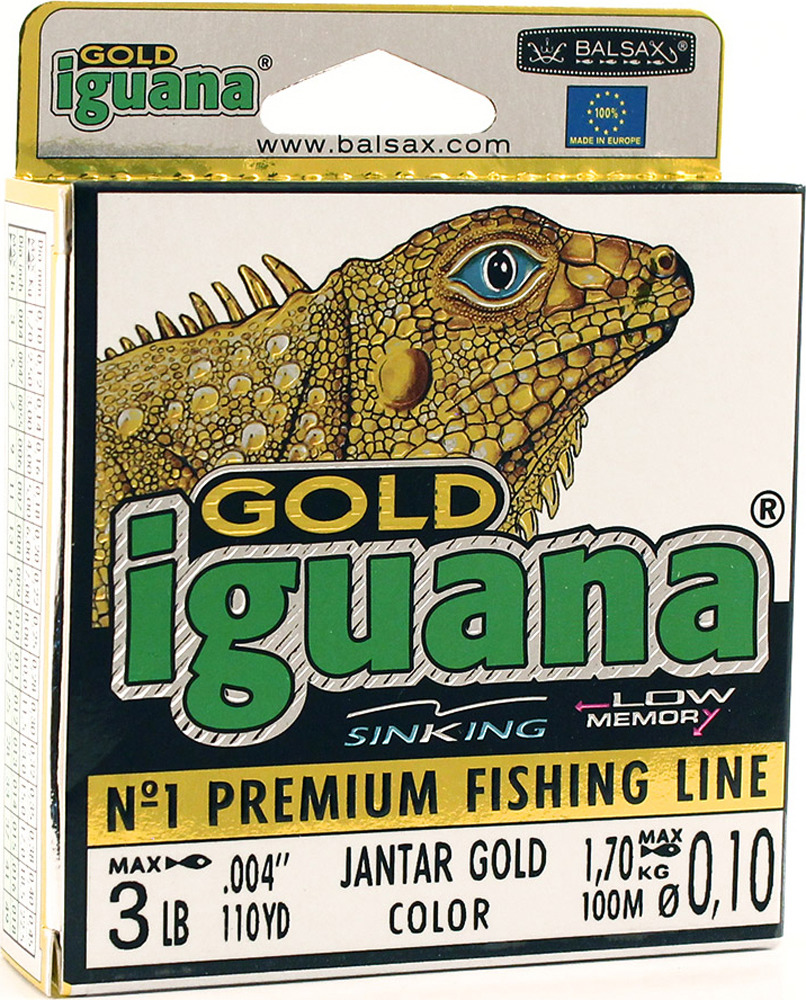 Леска Balsax Iguana Gold, 100 м, 0,10 мм, 1,7 кг