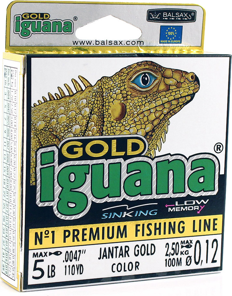 Леска Balsax Iguana Gold, 100 м, 0,12 мм, 2,5 кг