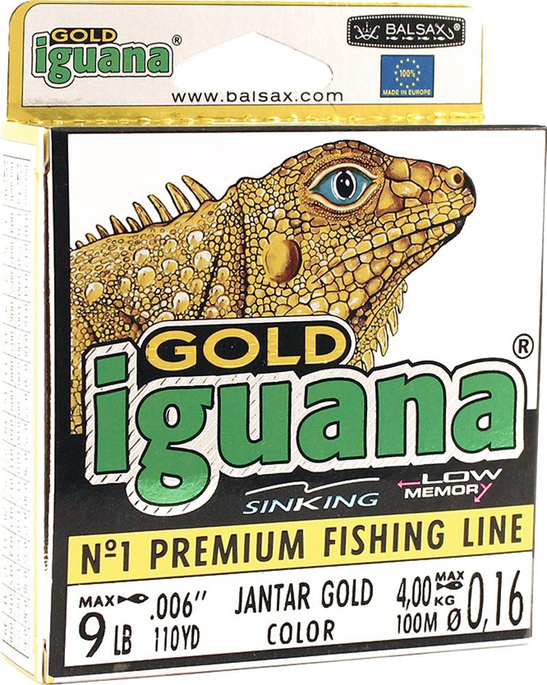 Леска Balsax Iguana Gold, 100 м, 0,16 мм, 4,0 кг