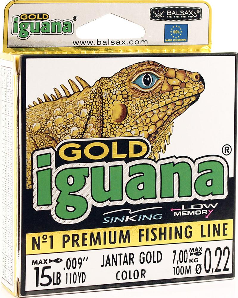 Леска Balsax Iguana Gold, 100 м, 0,22 мм, 7,0 кг