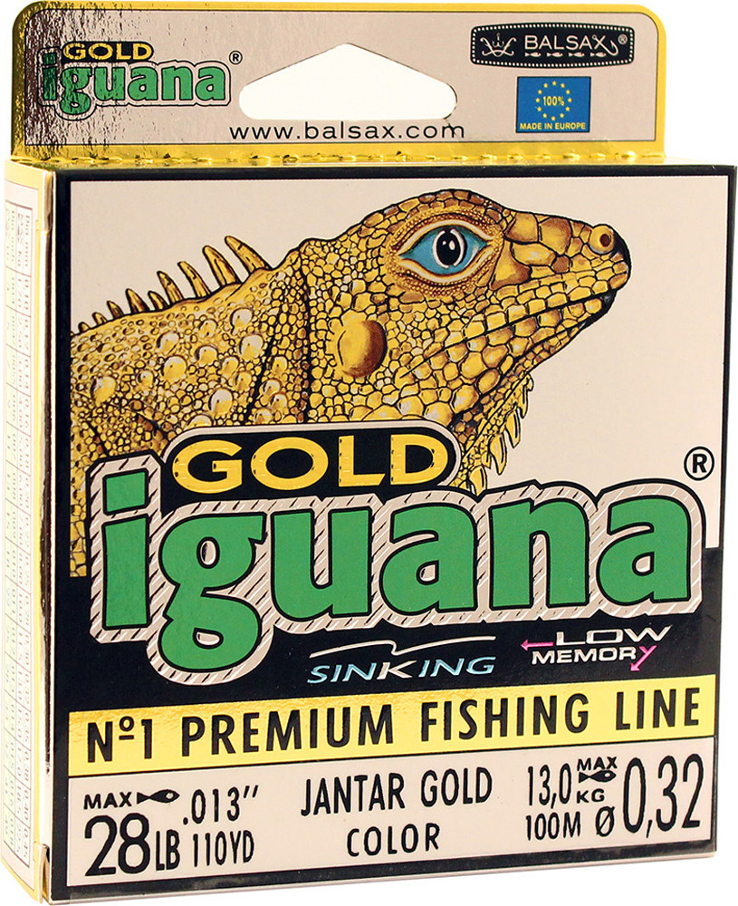 Леска Balsax Iguana Gold, 100 м, 0,32 мм, 13,0 кг