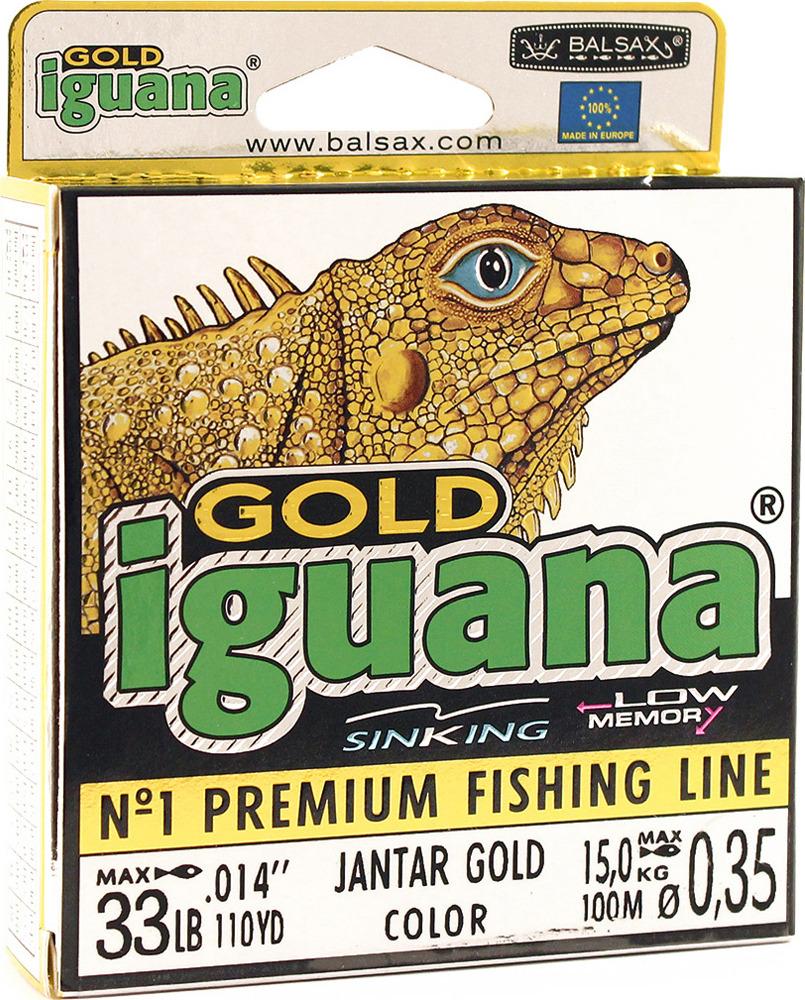 Леска Balsax Iguana Gold, 100 м, 0,35 мм, 15,0 кг