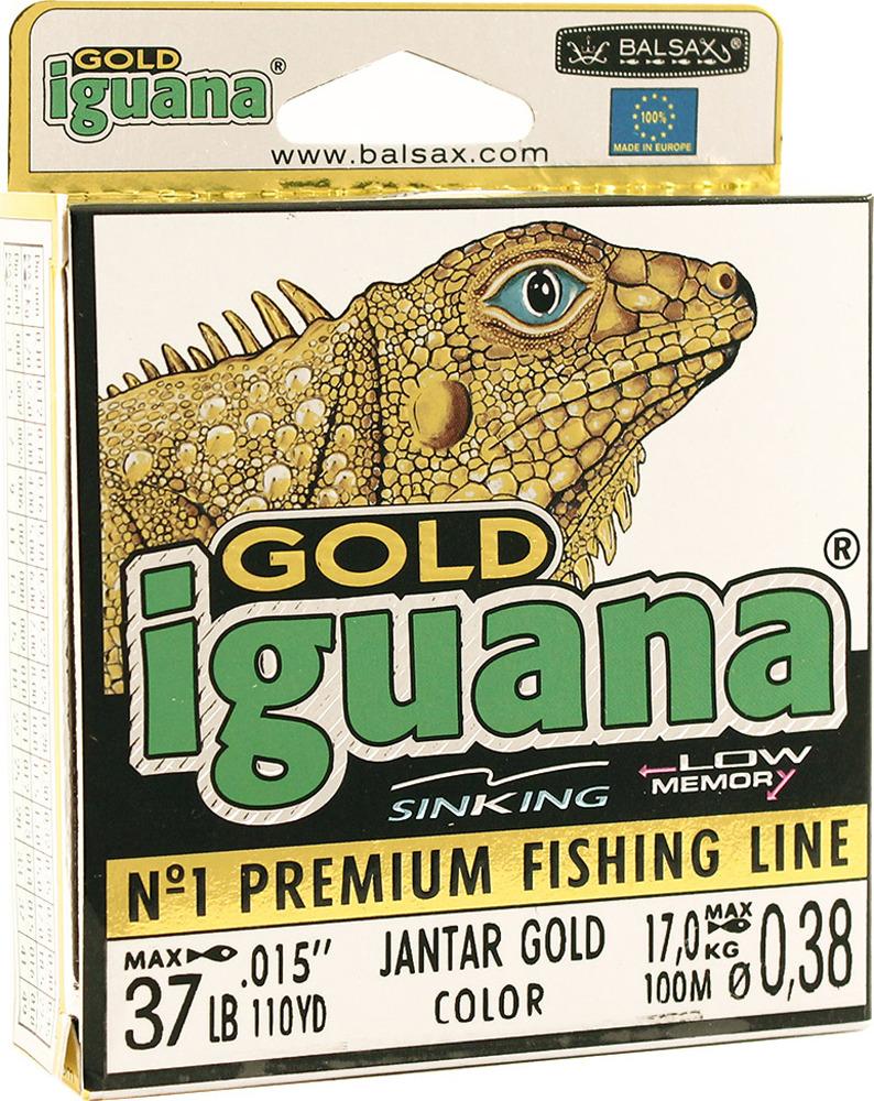 Леска Balsax Iguana Gold, 100 м, 0,38 мм, 17,0 кг
