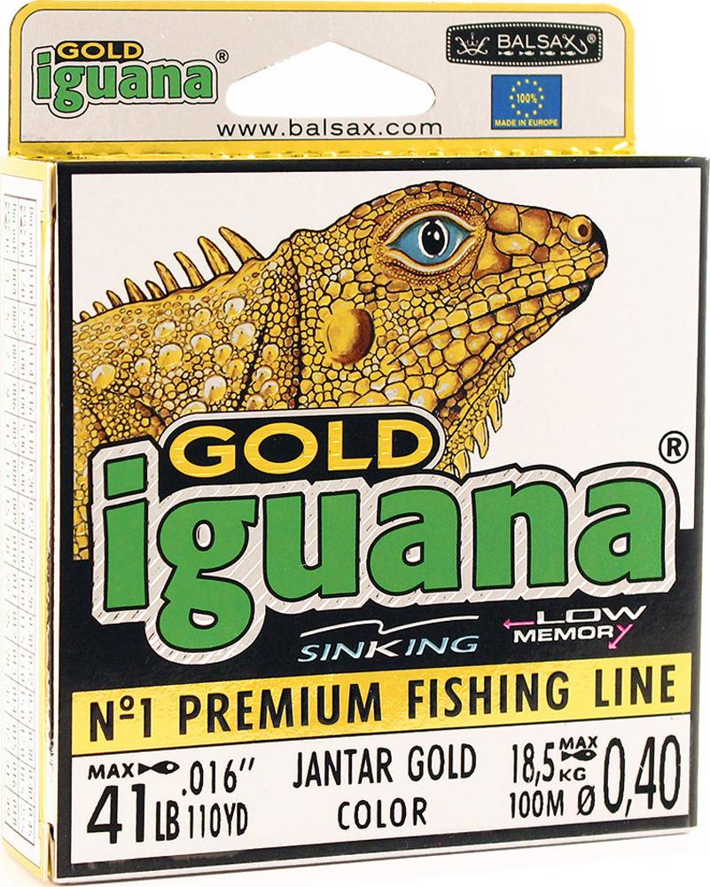 Леска Balsax Iguana Gold, 100 м, 0,40 мм, 18,5 кг