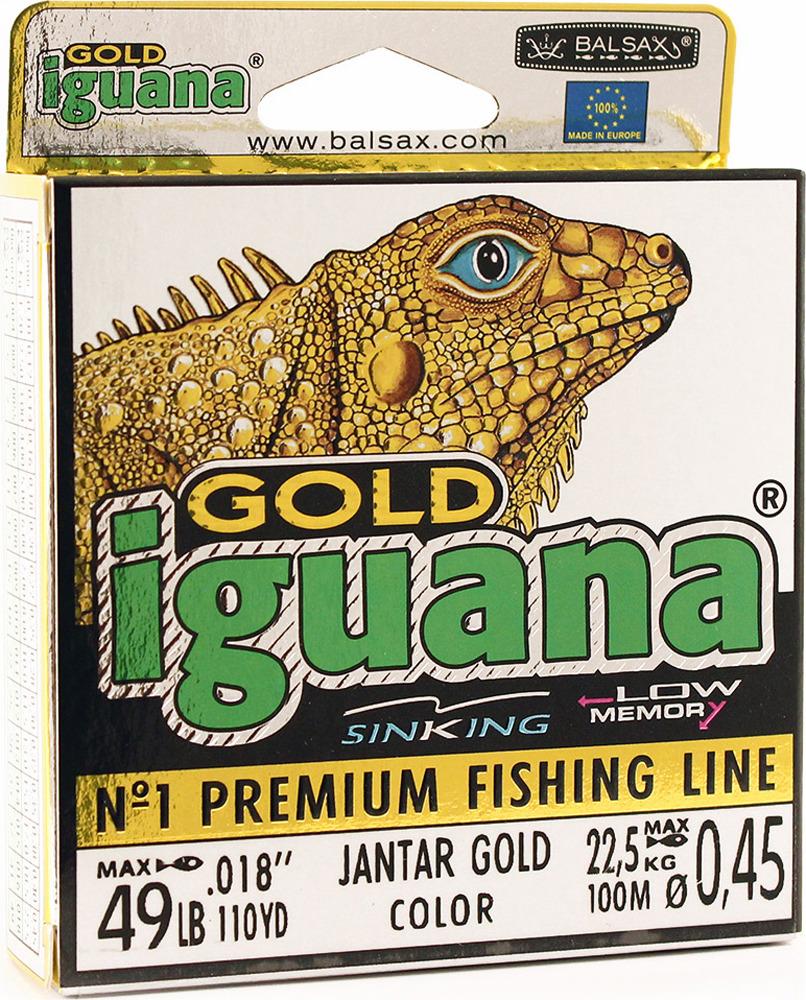 Леска Balsax Iguana Gold, 100 м, 0,45 мм, 22,5 кг