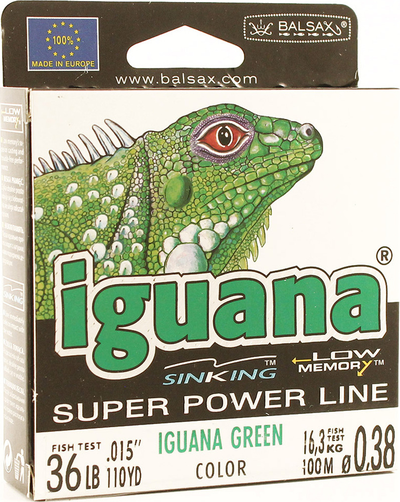 Леска Balsax Iguana, 100 м, 0,38 мм, 16,3 кг