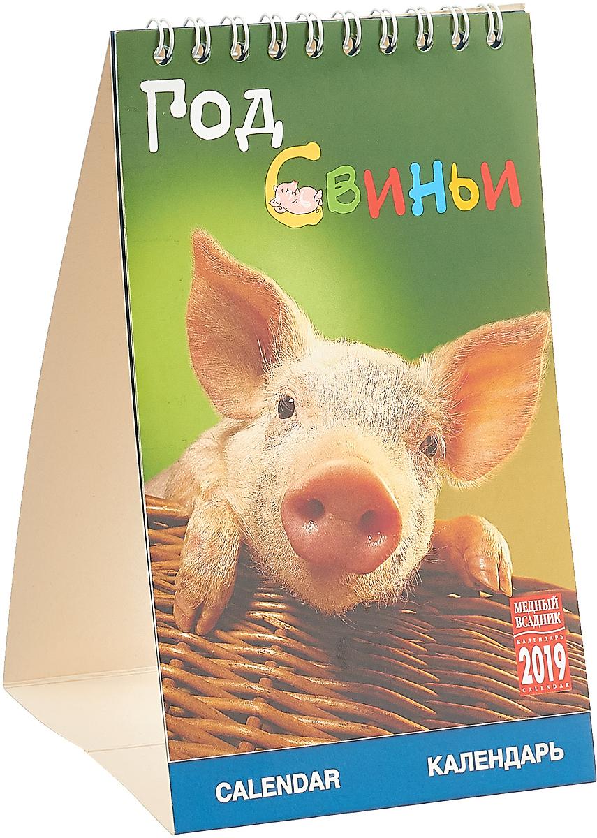 Календарь на спирали на 2019 год. Год Свиньи календарь на спирали кр20 на 2019 год эрмитаж шедевры живописи 34 47см [кр20 19012]
