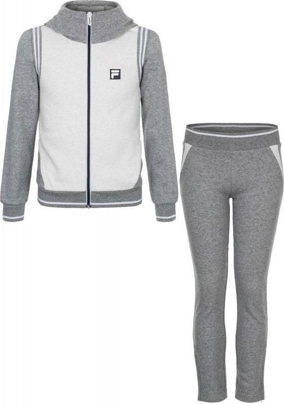 Спортивный костюм для девочки Fila, цвет: серый. A19AFLSUG01-2A. Размер 164 футболка для девочки fila цвет белый a19afltsg02 00 размер 164