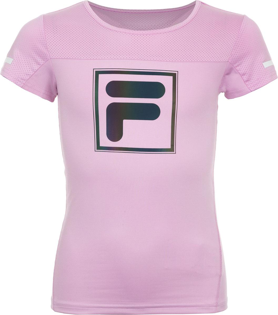 Футболка для девочки Fila, цвет: розовый. A19AFLTSG03-80. Размер 164 футболка для девочки fila цвет белый a19afltsg02 00 размер 164