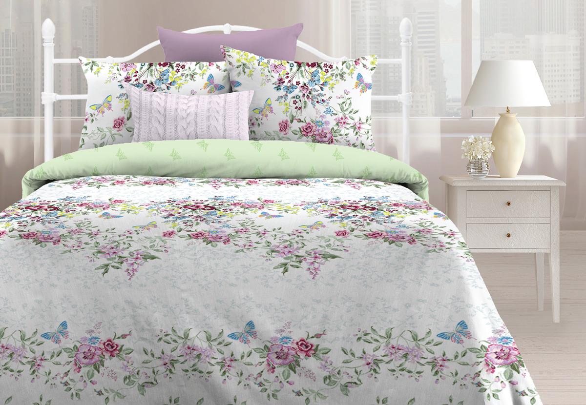 Комплект постельного белья Любимый дом Лаура, 1,5 спальное, наволочки 70х70 любимый дом бязь гладиолусы