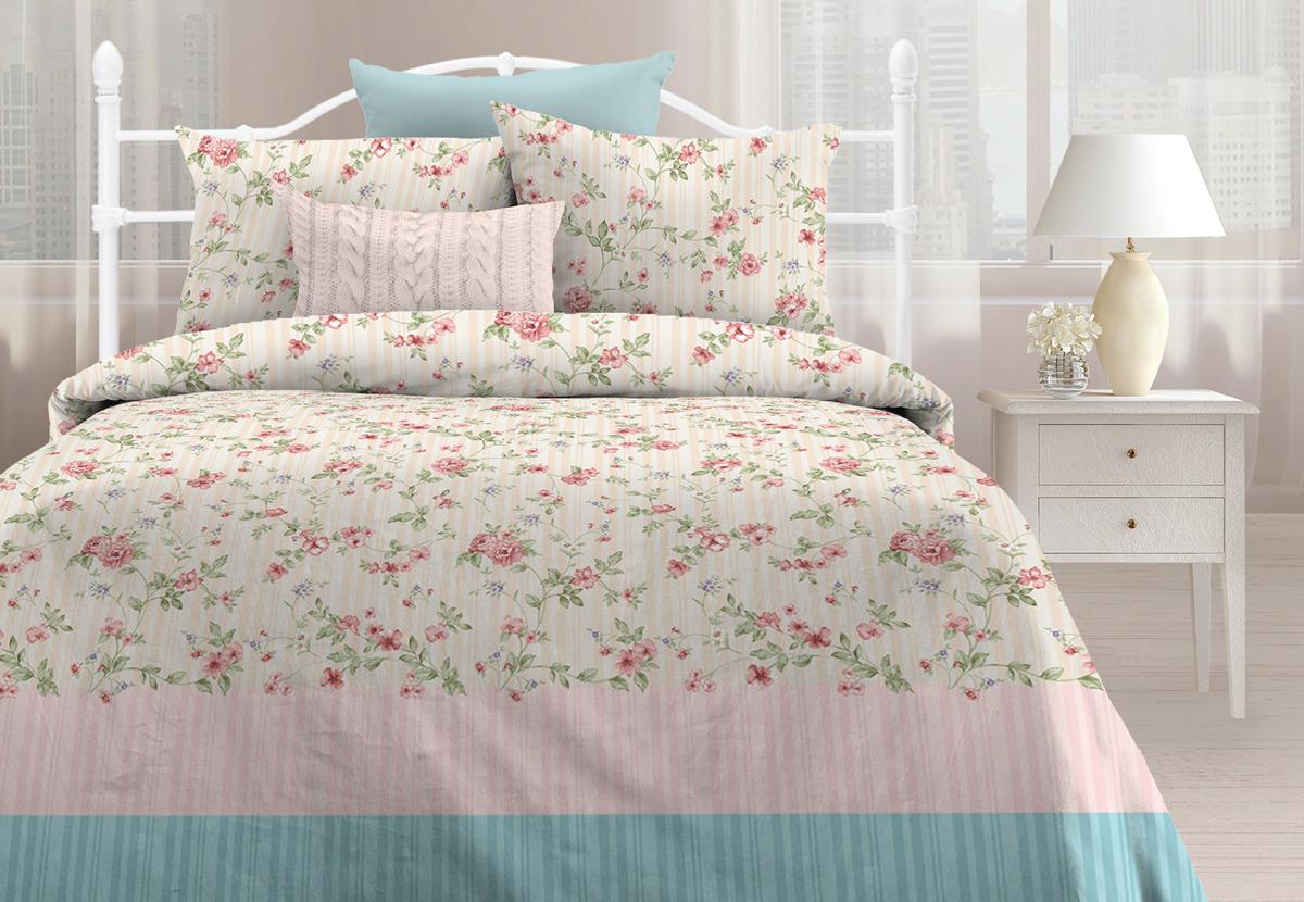Комплект постельного белья Любимый дом Маркиза, 1,5 спальное, наволочки 70х70 любимый дом бязь гладиолусы