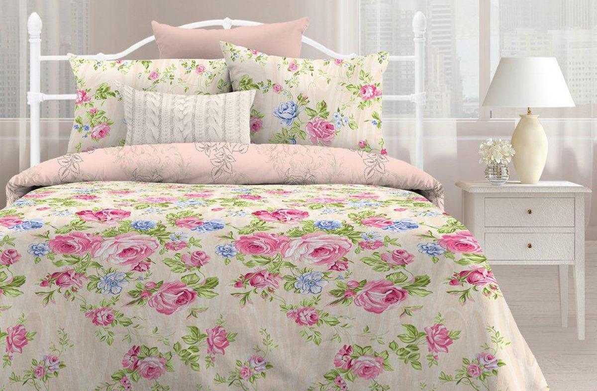 Комплект постельного белья Любимый дом Мирабель, евро, наволочки 70х70