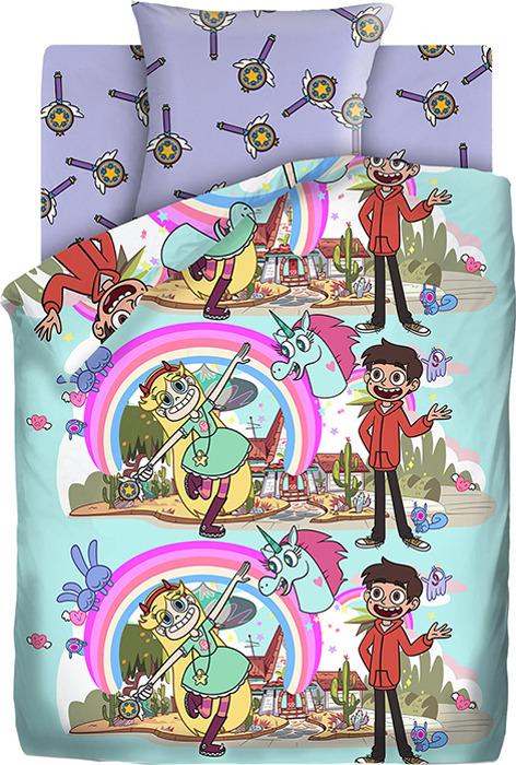 Детский комплект постельного белья Звездная Принцесса Звездная принцесса, 1,5 спальное, наволочка 70х70 звездная принцесса читательский дневник isbn 978 5 04 092284 0