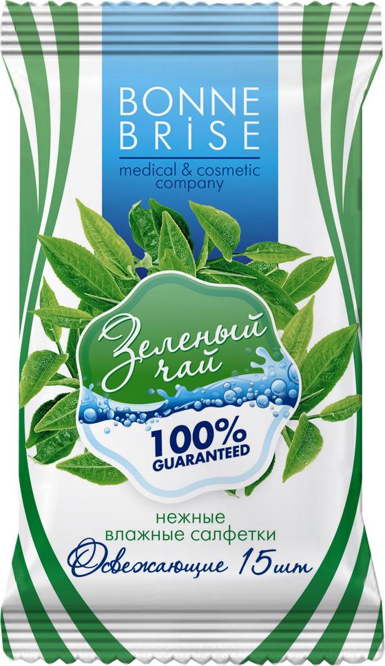 Влажные салфетки Bonne Brise Зеленый чай, 15 шт влажные салфетки vestar алоэ вера освежающие 15 шт