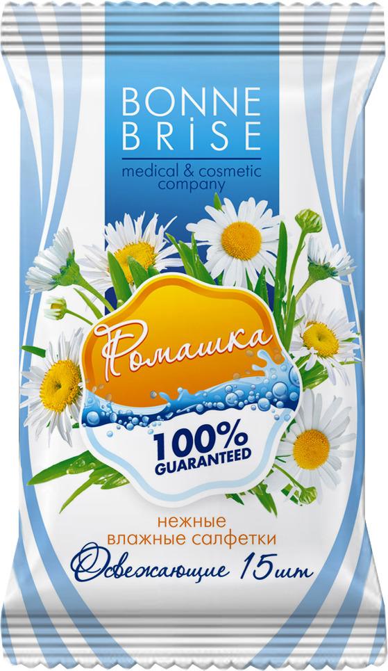 Влажные салфетки Bonne Brise Ромашка, 15 шт влажные салфетки bonne brise алоэ 15 шт