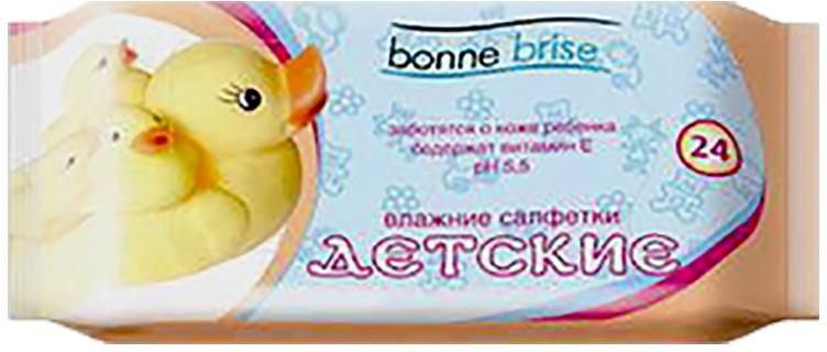 Влажные салфетки Bonne Brise Детские, 24 шт влажные салфетки bonne brise алоэ 15 шт