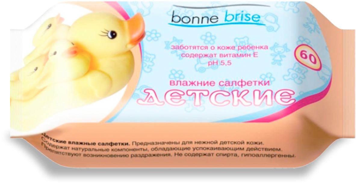 Влажные салфетки Bonne Brise Детские, 60 шт влажные салфетки bonne brise алоэ 15 шт