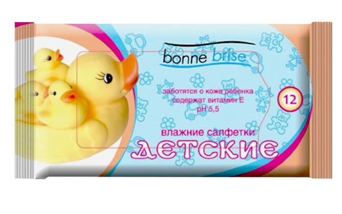 Влажные салфетки Bonne Brise Детские, mini, 12 шт влажные салфетки bonne brise алоэ 15 шт