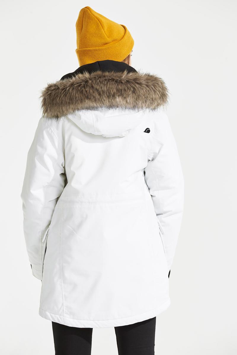 Куртка для девочки Didriksons Sassen Parka, цвет: белый. 501953_027. Размер 140 Didriksons