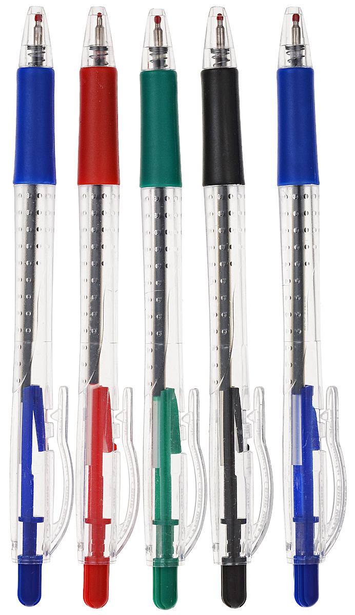 Набор шариковых ручек Flair Gripwell, 5 шт канцелярия berlingo набор автоматических шариковых ручек modern s цвет синий 2 шт