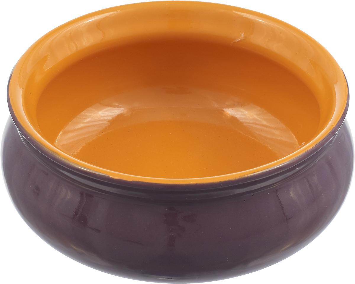 Тарелка Борисовская керамика Скифская, цвет: фиолетовый, желтый, 300 мл тарелка борисовская керамика скифская 300 мл цвет оранжевый сиреневый