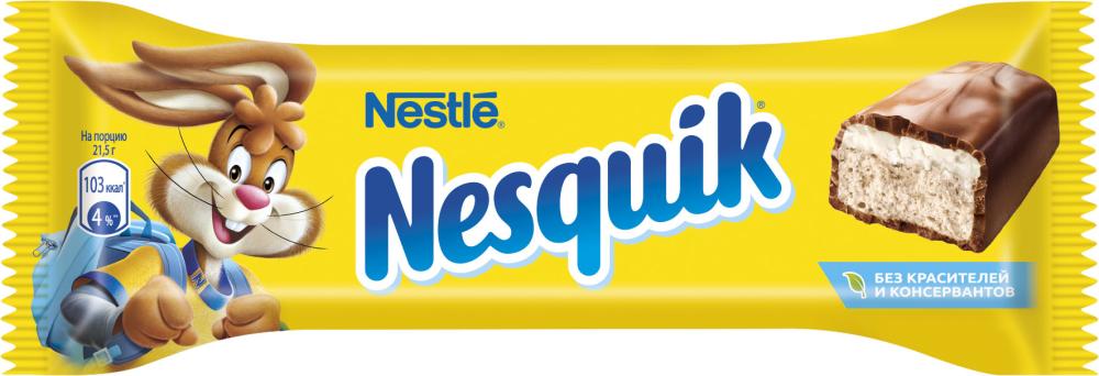 Батончик с какао нугой Nestle Nesquik, 25 г конфеты nestle 750g