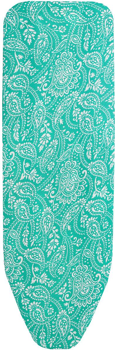 Чехол для гладильной доски Eva, 129 х 45 см цвет: зеленый скейтборд пластиковый action цвет зеленый дека 55 см х 15 см