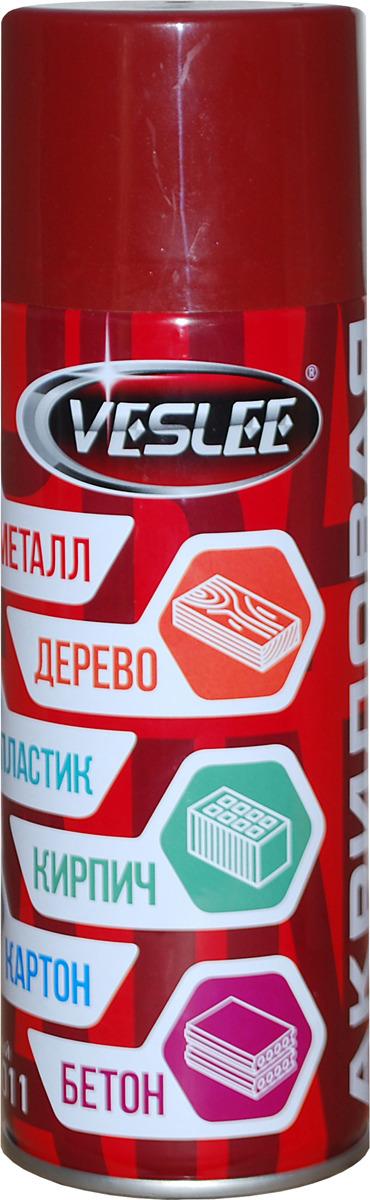 Краска аэрозольная Veslee RAL, цвет: темно-красный