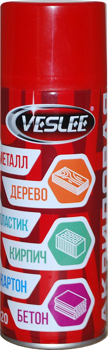 Краска аэрозольная Veslee RAL, цвет: красный