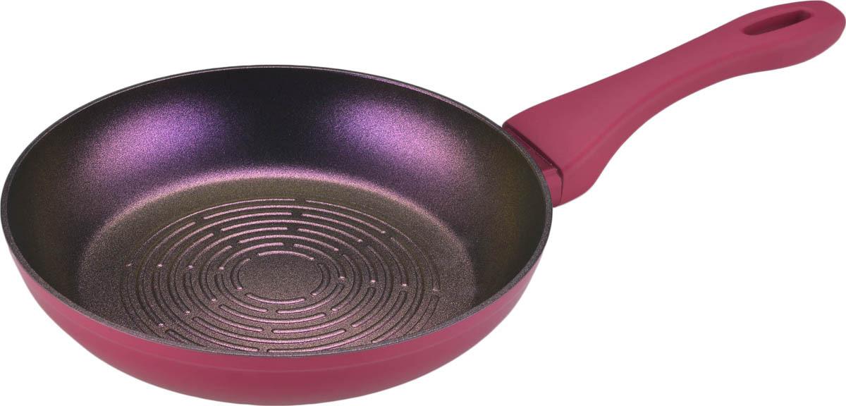Сковорода Bekker Intense с антипригарным покрытием с рельефом. Диаметр 22 см. BK-7811 сковорода bekker с антипригарным покрытием цвет фиолетовый диаметр 30 см bk 3748
