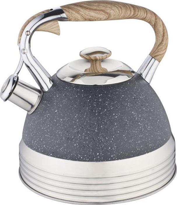 """Чайник """"Winner"""" выполнен из высококачественной нержавеющей стали, что обеспечивает долговечность использования. Нейлоновая фиксированная ручка делает использование чайника очень удобным и безопасным. Капсулированное дно способствует равномерному распространению тепла. Чайник снабжен свистком. Можно мыть в посудомоечной машине. Пригоден для всех видов плит, включая индукционные.Толщина стенки - 0,5 мм.Толщина дна - 4 мм."""
