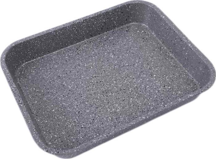 Противень 37* 29*5,5см., толщина стенки 0,4мм, внутреннее антипригарное мраморное покрытие, внешнее жаропрочное мраморное покрытие. Подходит для чистки в посудомоечной машине. Состав: углеродистая сталь.